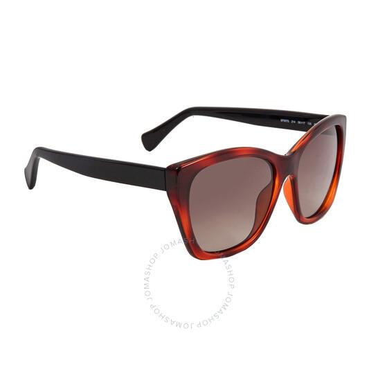 Salvatore Ferragamo Brown Cat Eye Ladies Sunglasses (SF957S 214 56)