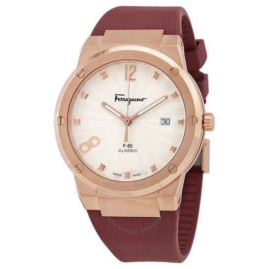 Salvatore FerragamoF-80 Classic Quartz Silver Dial Men's Watch