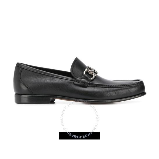 Salvatore Ferragamo Gancini Loafers In Black, Brand Size 7 EEE | Joma Shop