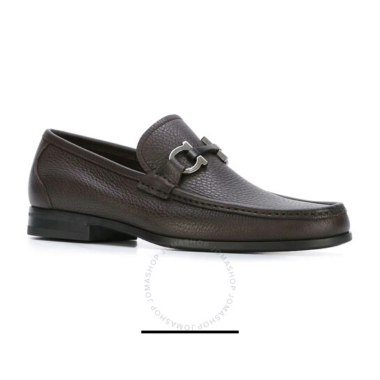 Salvatore Ferragamo Gancini Moccasin in Dark Brown, Brand Size 9.5 EEE | Joma Shop