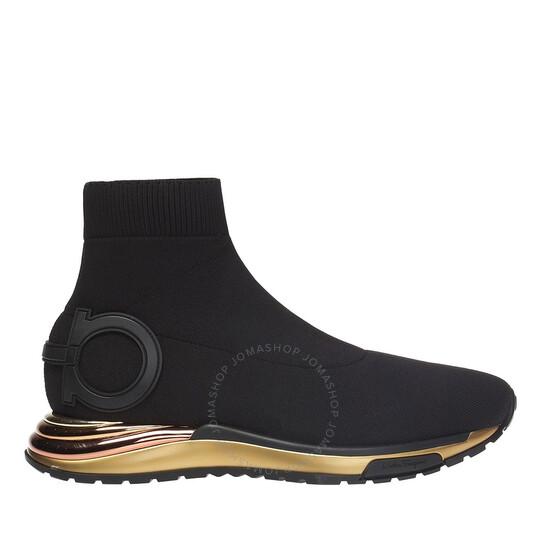 Salvatore Ferragamo Ladies Gancini Sock Sneakers, Brand Size 5   Joma Shop