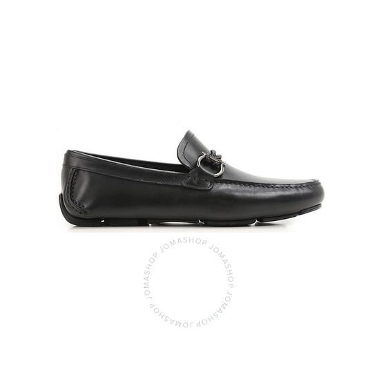 Salvatore Ferragamo Men's Gancini Driver Moccasin In Black, Brand Size 6 | Joma Shop