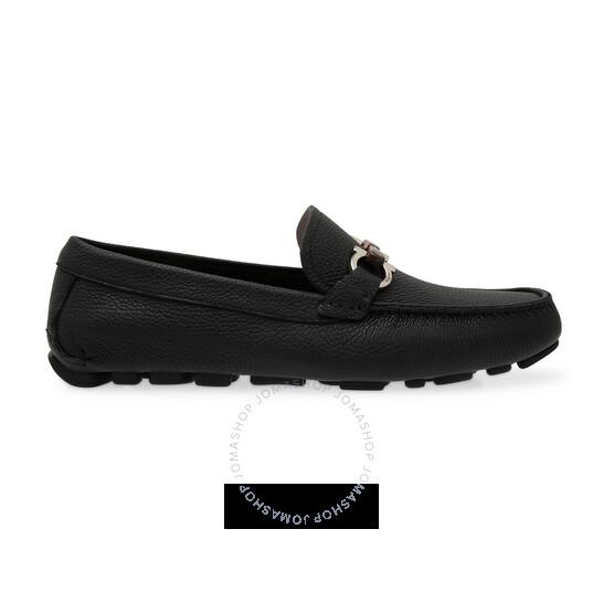 Salvatore Ferragamo Men's Gancini Driving Horsebit Loafers, Brand Size 7 | Joma Shop