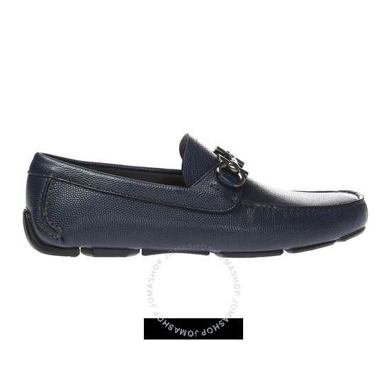 Salvatore Ferragamo Men's Gancini Moccasin In Ultramarine, Brand Size 7 EEE   Joma Shop