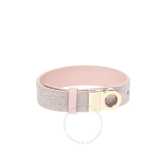 Salvatore Ferragamo Reversible Gancini Pink Glitter Bracelet | Joma Shop