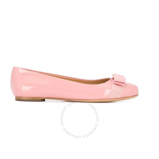 Salvatore Ferragamo Varina Ballet Flats in Desert Rose, Brand Size 5.5 | Joma Shop