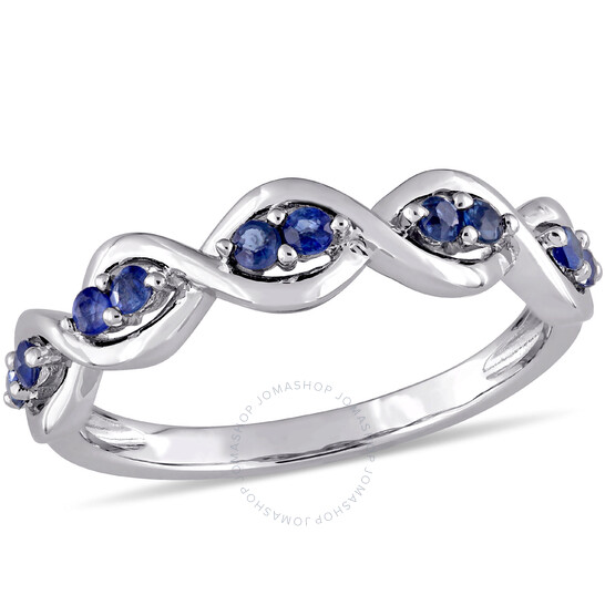 Amour Sapphire Twisted Infinity Promise Ring in 14k White Gold   Joma Shop