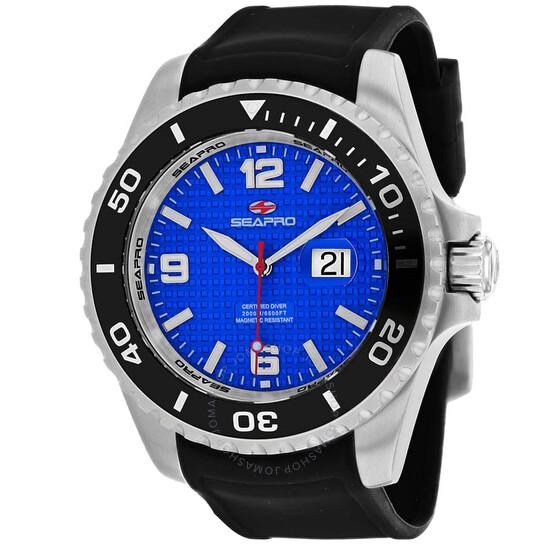 Seapro Abyss 2000M Diver Watch Quartz Blue Dial Men's Watch SP0741 | Joma Shop