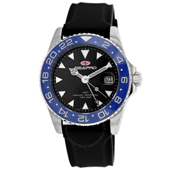 Seapro Agent Quartz Black Dial Men's Watch SP0122 | Joma Shop