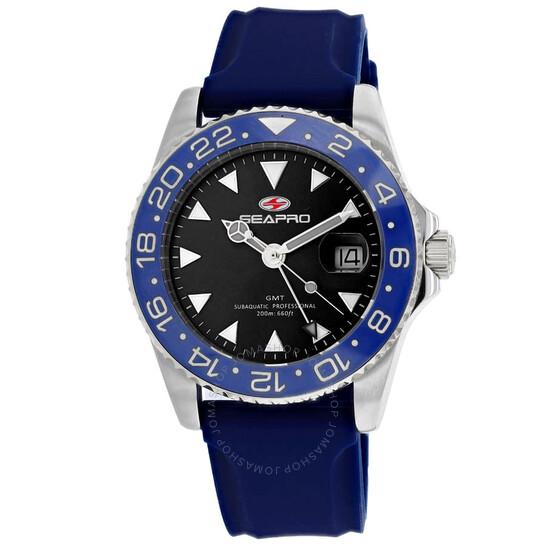 Seapro Agent Quartz Black Dial Men's Watch SP0122BL | Joma Shop