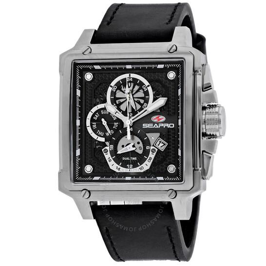 Seapro Dual Timer Quartz Black Dial Men's Watch SP0111   Joma Shop