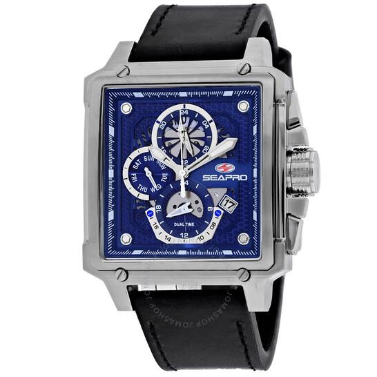 Seapro Dual Timer Chronograph Quartz Blue Dial Men's Watch SP0112 | Joma Shop