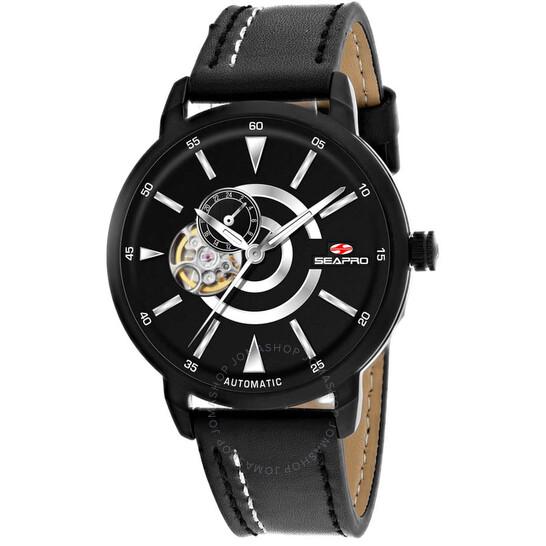 Seapro Elliptic Automatic Black Dial Men's Watch SP0142   Joma Shop