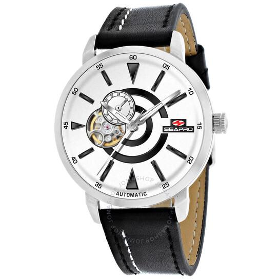Seapro Elliptic Automatic White Dial Men's Watch SP0141 | Joma Shop
