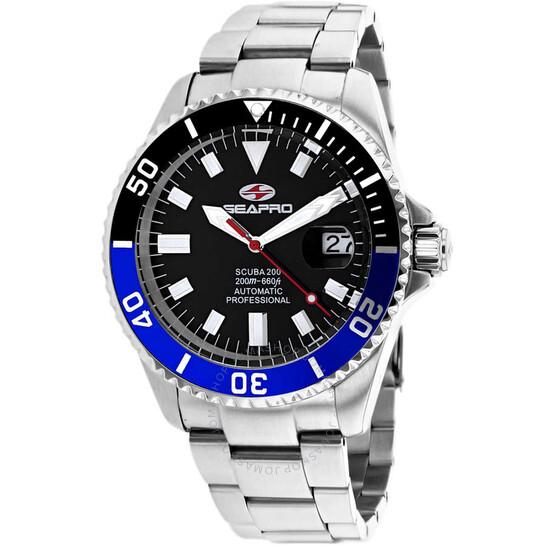 Seapro Scuba 200 Automatic Black Dial Men's Watch SP4321   Joma Shop