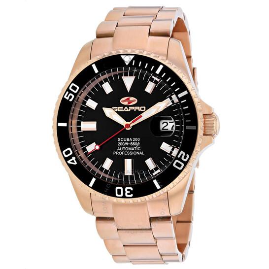 Seapro Scuba 200 Automatic Black Dial Men's Watch SP4322 | Joma Shop