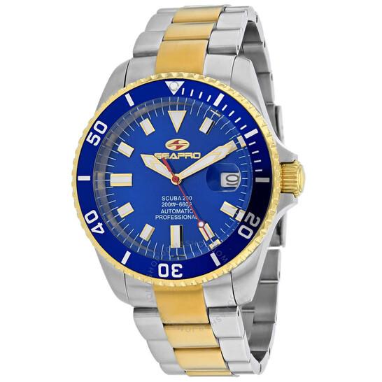 Seapro Scuba 200 Automatic Blue Dial Men's Watch SP4327   Joma Shop