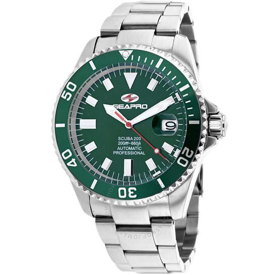 Seapro Scuba 200 Automatic Green Dial Men's Watch SP4318   Joma Shop