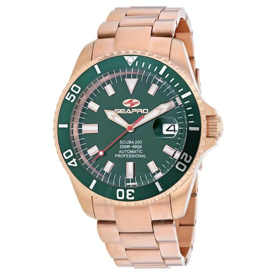 Seapro Scuba 200 Automatic Green Dial Men's Watch SP4323   Joma Shop