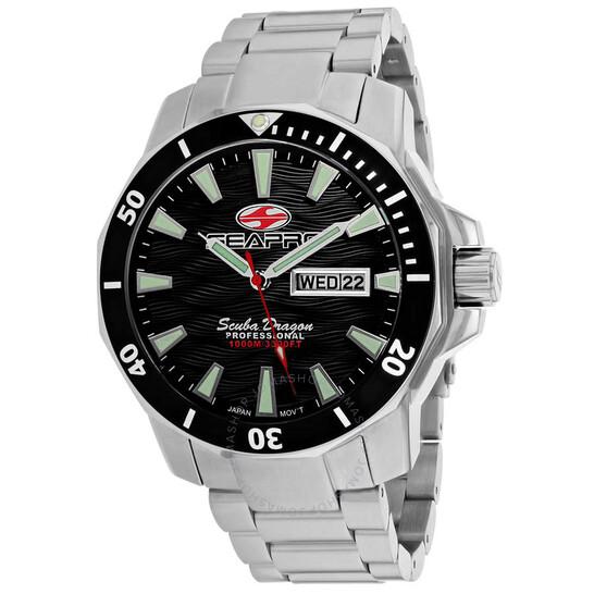 Seapro Scuba Dragon Diver Limited Edition 1000 Meters Quartz Black Dial Men's Watch SP8310S | Joma Shop