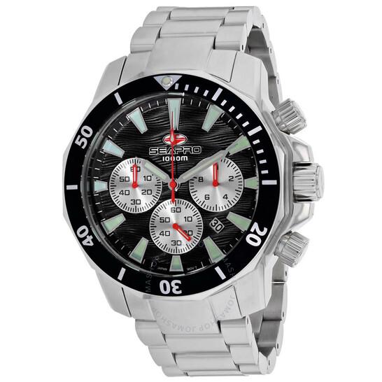 Seapro Scuba Dragon Diver Limited Edition 1000 Meters Chronograph Quartz Black Dial Men's Watch SP8341   Joma Shop