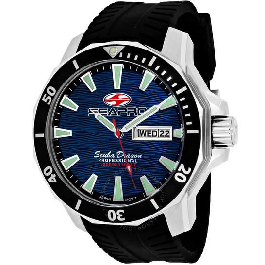Seapro Scuba Dragon Diver Limited Edition 1000 Meters Quartz Blue Dial Men's Watch SP8316   Joma Shop