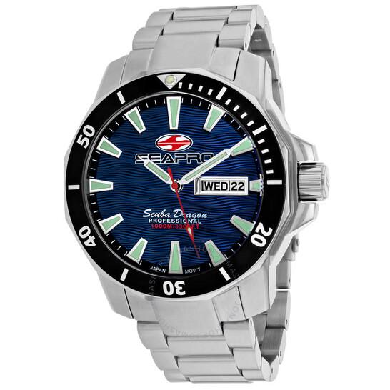Seapro Scuba Dragon Diver Limited Edition 1000 Meters Quartz Blue Dial Men's Watch SP8316S   Joma Shop