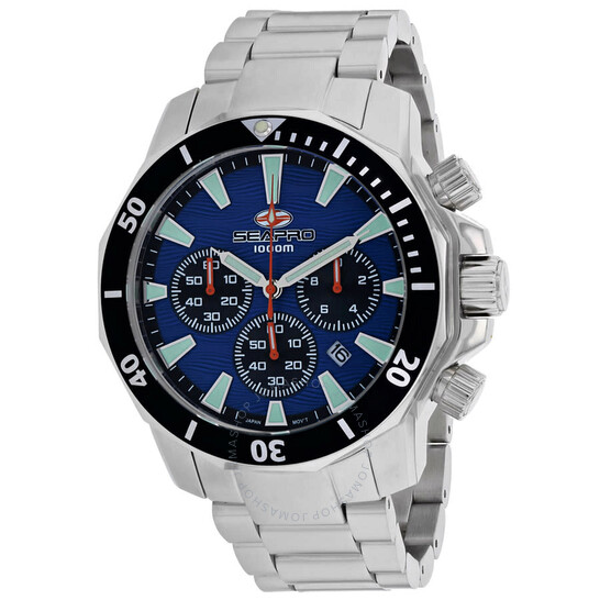 Seapro Scuba Dragon Diver Limited Edition 1000 Meters Chronograph Quartz Blue Dial Men's Watch SP8344 | Joma Shop