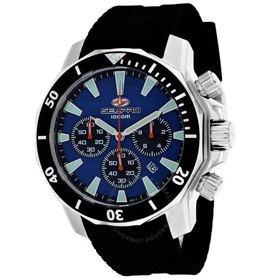 Seapro Scuba Dragon Diver Limited Edition 1000 Meters Chronograph Quartz Blue Dial Men's Watch SP8344R | Joma Shop