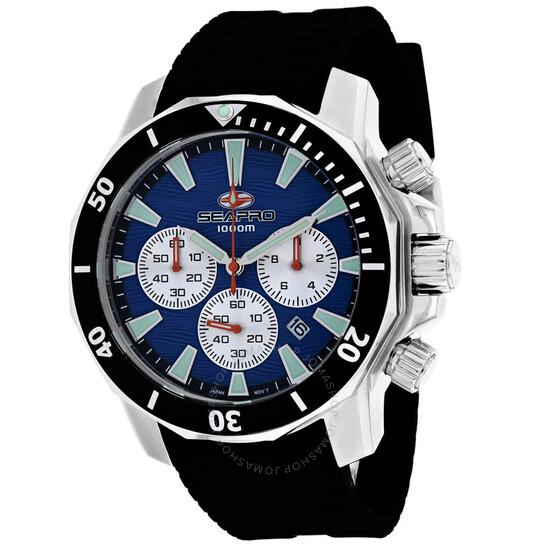 Seapro Scuba Dragon Diver Limited Edition 1000 Meters Chronograph Quartz Blue Dial Men's Watch SP8345R   Joma Shop
