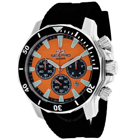 Seapro Scuba Dragon Diver Limited Edition 1000 Meters Chronograph Quartz Orange Dial Men's Watch SP8343R   Joma Shop