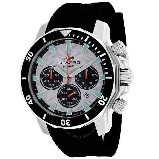 Seapro Scuba Dragon Diver Limited Edition 1000 Meters Chronograph Quartz White Dial Men's Watch SP8342R   Joma Shop