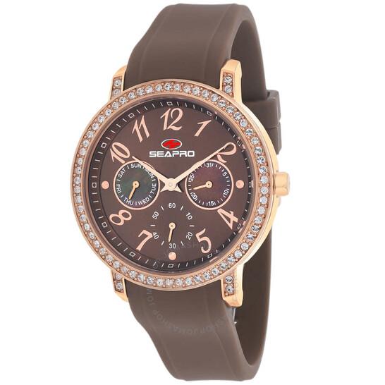 Seapro Swell Quartz Brown Dial Ladies Watch SP4414 | Joma Shop