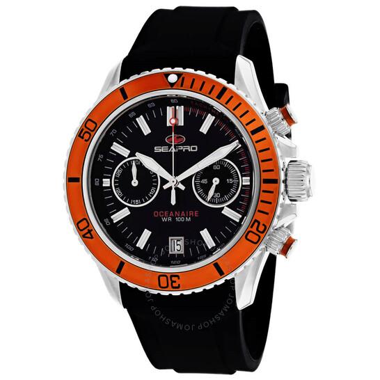 Seapro Thrash Chronograph Quartz Black Dial Men's Watch SP0334   Joma Shop