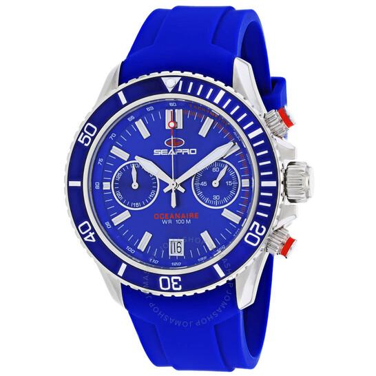 Seapro Thrash Chronograph Quartz Blue Dial Men's Watch SP0332 | Joma Shop