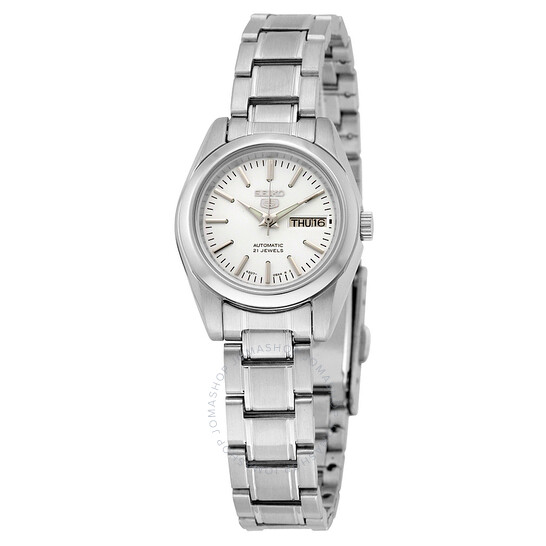 Seiko 5 Automatic Silver Dial Stainless Steel Ladies Watch SYMK13   Joma Shop