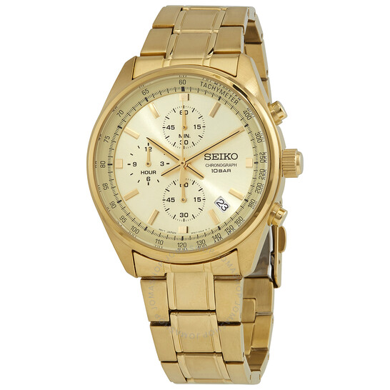 Seiko Chronograph Quartz Champagne Dial Men's Watch SSB382 | Joma Shop