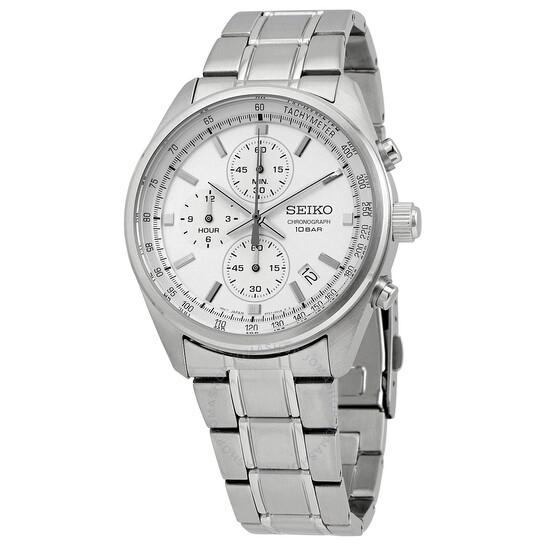 Seiko Chronograph Quartz Silver Dial Men's Watch SSB375   Joma Shop