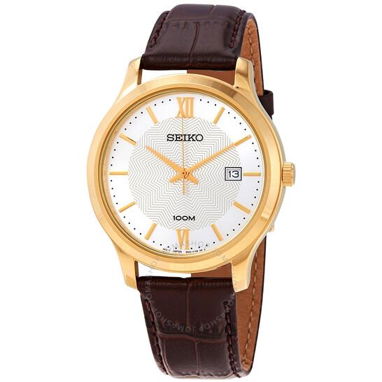 Seiko Neo Classic Quartz White Patterned Dial Men's Watch SUR298P1   Joma Shop