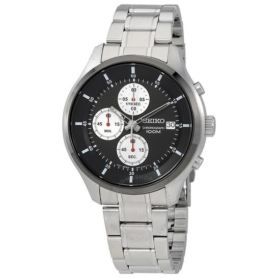 Seiko Neo Sports Black Dial Chronograph Men's Watch SKS545 | Joma Shop