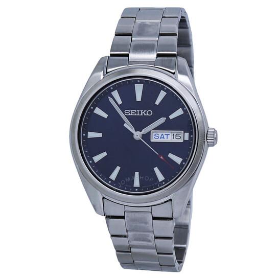 Seiko Quartz Blue Dial Stainless Steel Men's Watch SUR341P1 | Joma Shop