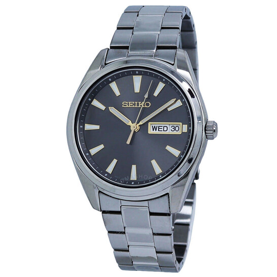 Seiko Quartz Grey Dial Stainless Steel Men's Watch SUR343P1 | Joma Shop