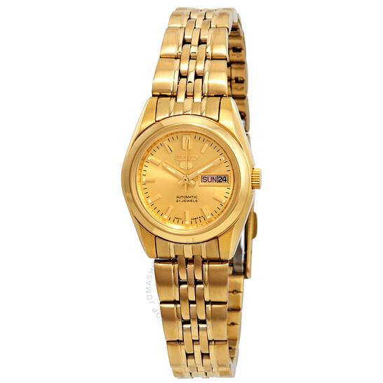 Seiko Series 5 Automatic Gold Dial Ladies Watch SYMA38   Joma Shop