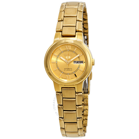 Seiko Series 5 Automatic Gold Dial Ladies Watch SYME58   Joma Shop