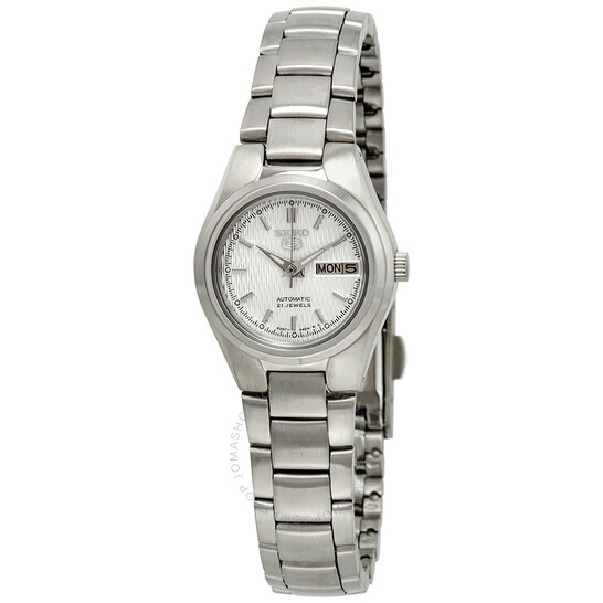 Seiko Series 5 Automatic Silver Dial Ladies Watch SYMC07 | Joma Shop
