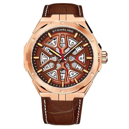 Stuhrling Original Legacy Automatic Brown Dial Men's Watch M13482   Joma Shop