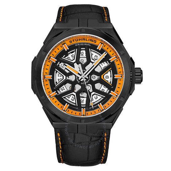 Stuhrling Original Legacy Automatic Orange Dial Men's Watch M13484   Joma Shop
