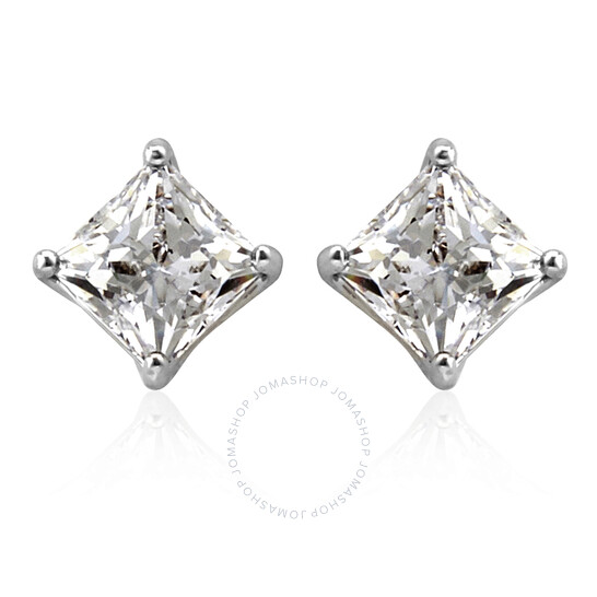 Swarovski Attract Pierced Earrings, White, Rhodium Plated   Joma Shop