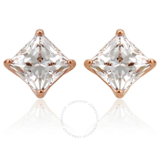 Swarovski Attract Pierced Earrings, White, Rose-gold Tone Plated | Joma Shop