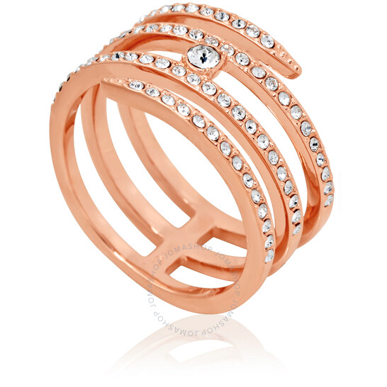 Swarovski Creativity Coiled Rose Gold-Plated Ring - Size 6